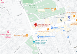 Map of our Sorrento Podiatry Clinic