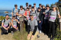 Peninsula Foot Clinic Team walking for Charity
